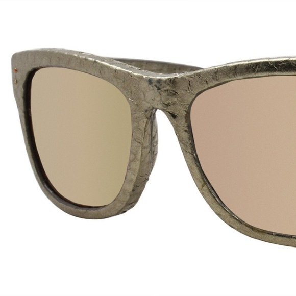 b93b99546fc3 Linda Farrow Accessories - Linda Farrow Luxe 261 Snakeskin Square Sunglasses